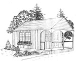 14' × 25' guest house - free plans