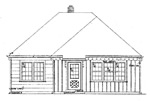 1 bedroom 25' × 34' house - free plans