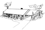 3 bedroom, 28' × 44' house - free plans