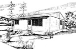 3 bedroom 28' × 46' low cost, passive solar house - free plans