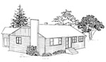3 bedroom house - 28' × 54' - free plans