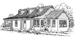 3 bedroom, 1 1/2 story 29' × 35' house - free plans
