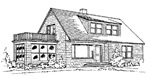 3 bedroom, 1 1/2 story 31' × 38' house - free plans