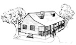 3 bedroom 36' × 28', 1 1/2 story house - free plans