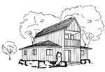 CSZ011 further The Hughes A Cozy Cottage further House Plans In Sierra Leone also Sonoma County Carport Plan together with 1500 Square Feet 3 Bedroom 2 Bathroom 1 Garage Contemporary European 39168. on post and beam carport plans