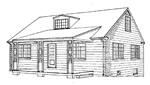 4 bedroom 27' × 38', 1 1/2 story house - free plans