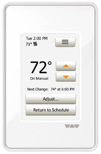DitraHeat Thermostat with Touch Screen Programming