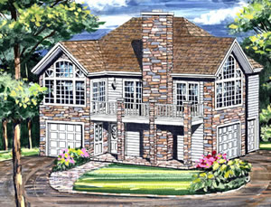 2 bedroom - 1,029 sq. ft. house plans