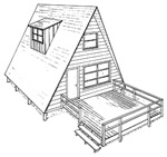 Beau Build This 24u0027 X 24u0027 A Frame Cabin. These Cabin Plans Feature An Outdoor  Deck, Gable Roof, Double 2u2033 X 10u2033 Rafters On 8u0027 Centers And A Raised Wood  Floor.