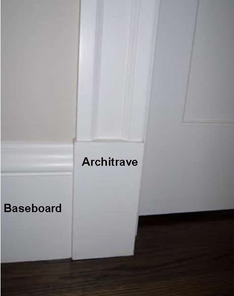 Door baseboard how to paint dark stained doors before for Door architrave