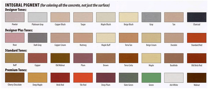 standard cement pigment colors - Ciment Color