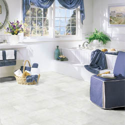 sheet vinyl flooring in bathroom
