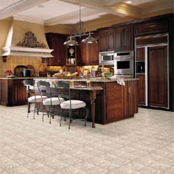 sheet vinyl flooring in kitchen