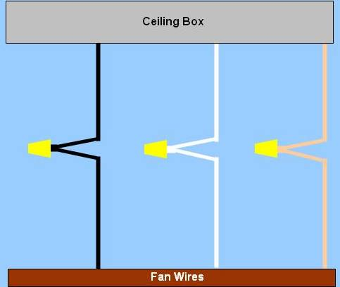 Ceiling  Wiring Diagram on Wiring Diagram For Ceiling Fan Power Enters At Ceiling Box  As Last