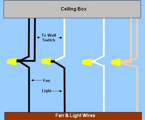 Ceiling  Wiring on Ceiling Fan Wiring   Circuit Style 9