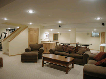 finished basement living space - Cost To Finish A Basement