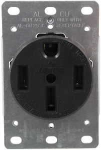 240 VAC 50 Amp Flush Mount Range Receptacle. (4 Wire)