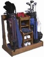 Golf Bag Rack Plans And Golf Accessory Storage Rack.