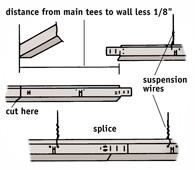 Splicing The Main U003cqu003eTu003c/qu003e For A Suspended Ceiling
