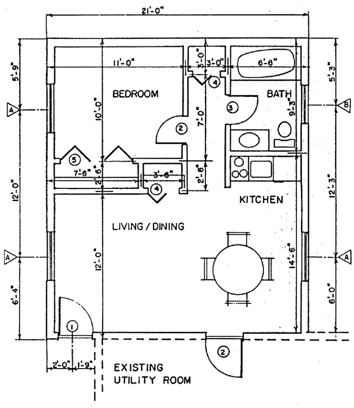 Independent living addition, Building Plan 5 - addition floor plan - free plans