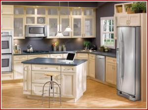 Custom manufactured kitchen cabinets, style 1