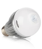 LED bulb with built in motion detector