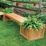 manufactured bench planter