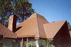 Metal roof looks like cedar shakes