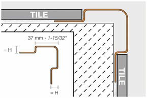 tile molding installation drawing 4