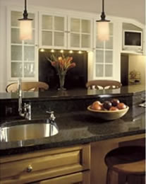 How high should pendant light fixtures hang over a counter aloadofball