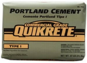 bag of Type I portland cement