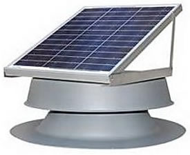 Roof mounted solar attic vent fan