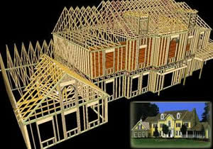 Figure A House Design Using Roof Trusses