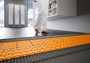 Schluter®-Systems DITRA-HEAT floor warming