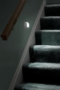 Motion-activated indoor/outdoor stair light