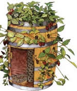 strawberry planter plans - barrel