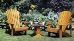Adirondack chair and matching table plans