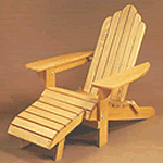 Adirondack high back chair and foot rest plans