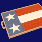 flag serving tray