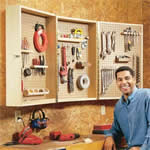 folding tool wall cabinet
