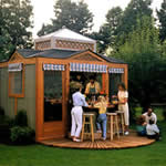 You Donu0027t Have To Worry About An Unexpected Rain Storm With This Enclosed  Kitchen Pavilion. Oasis Outdoor Kitchen   Free Plans ...