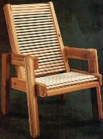 Patio outdoor chair plans