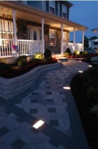 low voltage paver lights on walkway - 3