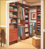 walk-in closet - closet organizer - free plans, drawings & instructions