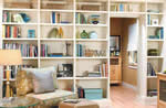 built-in bookcase covers wall plan