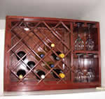 combination wine rack and glass rack