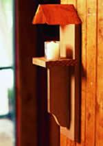 wall mount wood candle holder plans