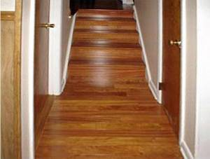 Figure 1 Hardwood Flooring Installed Lengthwise Perpendicular To Entrance