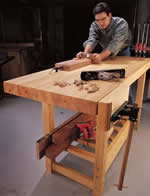 inexpensive, sturdy workbench - free plans, drawings and instructions