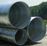 Corrugated spiral metal culvert pipe